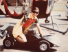 Robin on his go-cart
