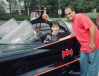Yvonne Craig and Batmobile owner Dan Rodriguez